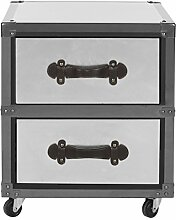 Safavieh EAF9509 Kommode, Holz, Silber, 44 x 44 x