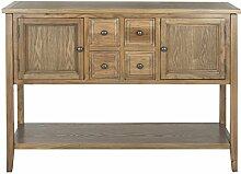Safavieh EUH6517 Anrichte, Holz, Braun, 116 x 38 x