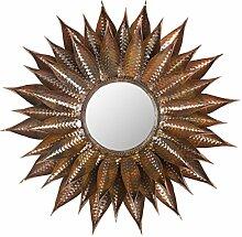 Safavieh EUM3001A Spiegel, Metall, gebrannt kupfer, 71 x 71.88 cm