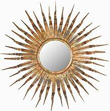 Safavieh EUM3007A Spiegel, Metall, gebrannt kupfer, 93 x 93.98 cm