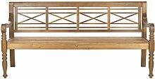 Safavieh Gartenbank, Holz, teakbraun, 178 x 58 x