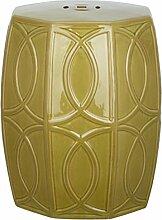 Safavieh Gartenhocker für Innen / Draußen, Glasierte Keramik, frühlingsgrün, 38 x 38 x 45.72 cm