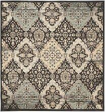 Safavieh Imogen gewebter Teppich, VTG572B, Schwarz