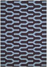 Safavieh Karina Handgewebtes Flachgewebe Teppich, Wolle and Bananenseide, Lila/Blau, 121 x 182 cm