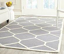 Safavieh Lulu Teppich Wolle Silber/Elfenbein 60 x