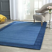 Safavieh Mandala handloomed Teppich Wolle hellblau/dunkelblau 91x 152cm