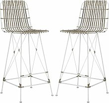 Safavieh Marcello Barhocker (2er-Set), Rattan,