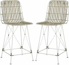 Safavieh Margy Barhocker (2er-Set), Rattan,