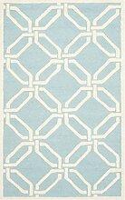 Safavieh Mollie handgetufteter Teppich, CAM311E, Hellblau / Elfenbein, 91 X 152  cm