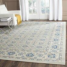 Safavieh pachio Bereich Teppich, hellblau/elfenbeinfarben, 154x 228cm