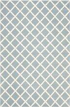 Safavieh Teppich mit Rautenmuster Blau / Elfenbein