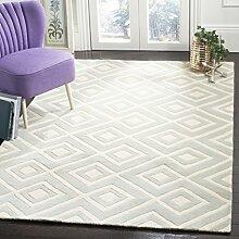 Safavieh Teppich mit Rautenmuster Grau / Elfenbein