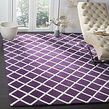 Safavieh Teppich mit Rautenmuster Lila / Elfenbein