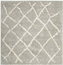 Safavieh Teppich Polypropylen Hellgrau 154 X 154 cm