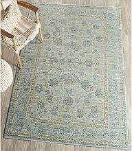 Safavieh VAL113G-5 Aubry Gewebte Teppich, Polyester, hellblau / türkis, 152 x 243 cm