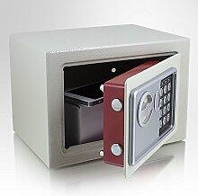 Safe Tresor elektronisch Minisafe Wandtresor Wandsafe Schranktresor Geldschrank Möbeltresor Geldsafe Lichtgrau