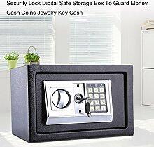 Safe Tresor Elektronisch Minitresor mit digitalem Zahlenschloss mit 4x Batterien (8.5L)