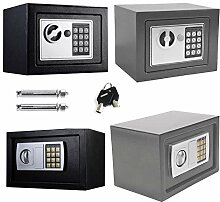 Safe Tresor mit Schlüssel mit Elektronischem