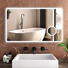 Safeni Badspiegel mit Beleuchtung 100x60cm LED