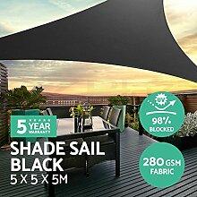 SAFETYON Sonnensegel Sonnenschutz 3/5 Extra Schweren Schatten Segel Sonne Outdoor Dreieck Garten Hof Markisen Sommer Auto Sonnenschirm Zelt 5x5x5M