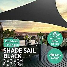 SAFETYON Sonnensegel Sonnenschutz 3/5 Extra Schweren Schatten Segel Sonne Outdoor Dreieck Garten Hof Markisen Sommer Auto Sonnenschirm Zelt 3x3x3M