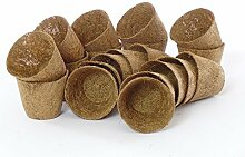 SAFLAX - 20 Kokosfaser Töpfe - 8,5 cm