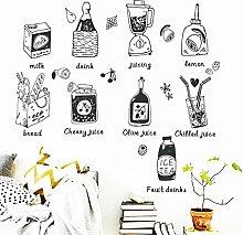 Saft Küche Kühlschrank AufkleberKinder lernen