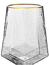 Saft Weinglas Cocktails Golden, Gehämmert,
