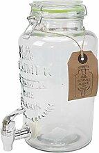 Saftspender 3 Liter aus Glas mit Zapfhahn