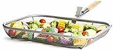 Sagaform BBQ Basket Grillkorb, Edelstahl, Silber,
