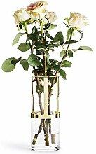 Sagaform Designer Adjustable Gold and Glass Vase,