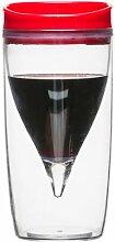 Sagaform Picknick-Weinglas, doppelwandig, Rot/Weiß ro