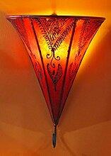 Saharashop Orientalische Leder-Wandlampe Najat Ro