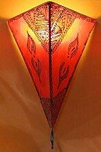 Saharashop Orientalische Leder-Wandlampe Simple Ro