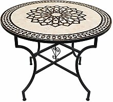 Saharashop Orientalischer Mosaiktisch Rund Ø 100