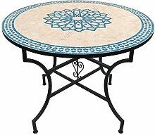 Saharashop Orientalischer Mosaiktisch Rund Ø 120
