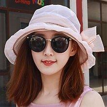 SAIBANGZI Sommer Damen Chiffon Sonnenschirm hat