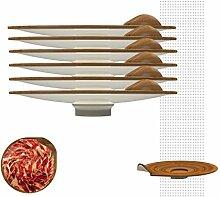 SAIGO Bambus, stapelbar, silber, 18x 18x 3.5cm