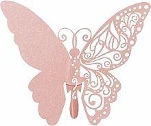 saihui New 50PCS Pink Schmetterling auf Glas
