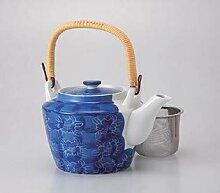 Saikai Pottery Peony Net Teekanne #8 60462 aus