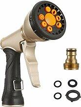 Sainlogic Bewässerung Spray Gun, Heavy Duty Metal Garten Spray Düse mit 9 verschiedenen Spray Einstellungen für Bewässerungsanlagen | Autowäsche | Duschen Haustiere