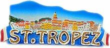 Saint Tropez Frankreich 3D Kühlschrank