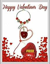 Saint Valentin personnalisé–Verre de vin