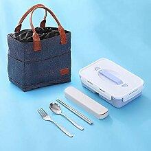 Saismx Einzelne Lunchbox 2 Fächer, separate