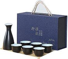 Sake Cup Set, Japanisches Sake-Becher-Set,