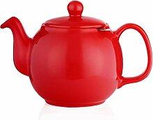 Saki Große Porzellan-Teekanne mit herausnehmbarem