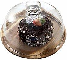 Salat Platte Holztortenschachtel, Glas Pudding
