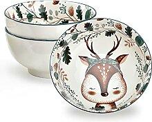 Salatschüssel Keramik Müslischalen Groß Ramen