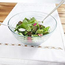 Salatschüsselset aus Glas mit Besteck 3-teilig