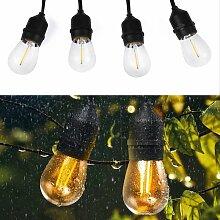 Salcar Girlanden LED Lichterkette Außen -